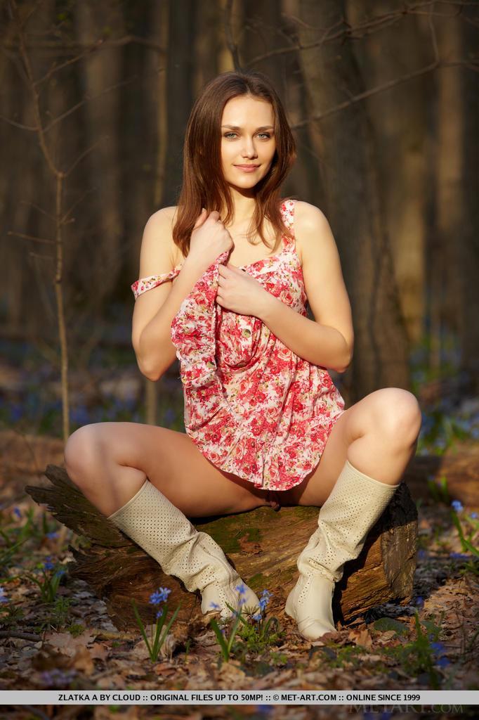 Zdjęcie porno - 0615 - Ruda w lesie