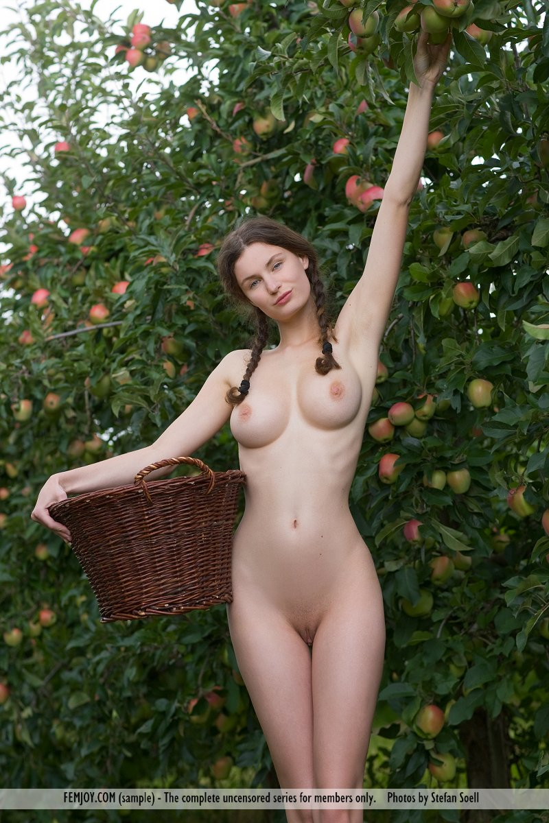 Zdjęcie porno - 0615 - Naga dziunia w ogrodzie
